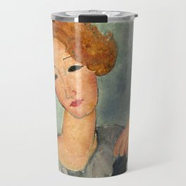"Amedeo Modigliani ""Woman with Red Hair"" (1917) Travel Mug"