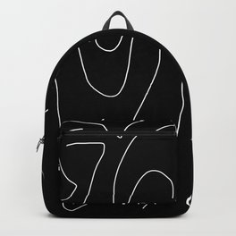 Bright White on Pitch Black Backpack