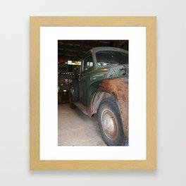 vintage classic rustic truck international Framed Art Print