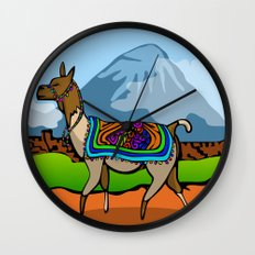 Lofty Llama Wall Clock