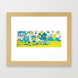 Live Large Framed Art Print
