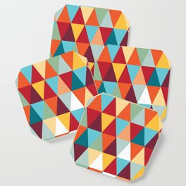 Geometric Color #abstract #bright #triangles Coaster