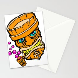 Mr Tiki the bubble blow'n machine Stationery Cards