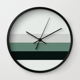 aqua || gray horizon Wall Clock