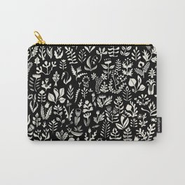 Black and white botanical pattern Carry-All Pouch