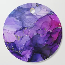 Violet Storm - Abstract Ink Cutting Board
