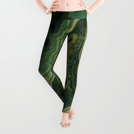 The world of gems - green agate Leggings