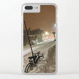 Buried Bike in Portland, Maine Clear iPhone Case