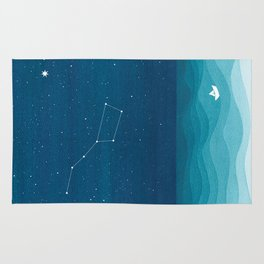 Big Dipper constellation Rug