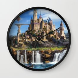 Waterfall City Wall Clock