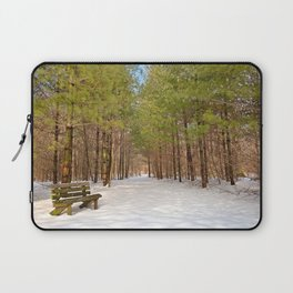 Winter Pine Forest Trail Laptop Sleeve
