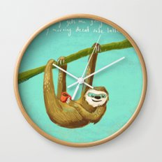 Nothing gets me going like my morning caffe latte Wall Clock