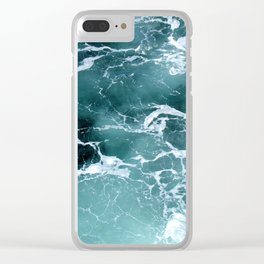 Marbled Waters Clear iPhone Case