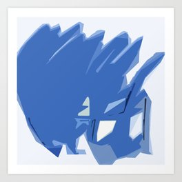 Abstract In Blue Art Print