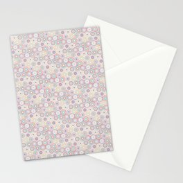 Colorful Circle Flower Mosaic Pattern Stationery Cards