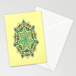 Mandala in florals Stationery Cards
