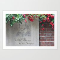 shakespeare Art Prints featuring shakespeare by Danica Nicole