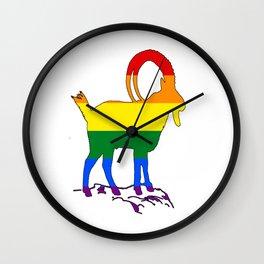 Rainbow Ibex Wall Clock