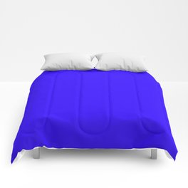 Bright blue Comforters