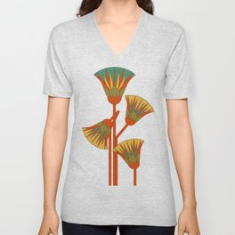Ancient Egyptian lotus - Colorful Unisex V-Neck
