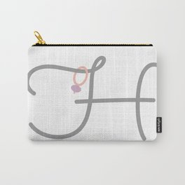 H Initial with Stitch Marker Carry-All Pouch