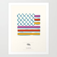 flag Art Prints featuring FLAG by VILASPASA