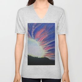 Sunset Supernova Unisex V-Neck