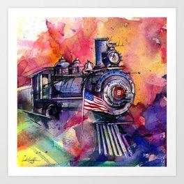 American Train by Kathy Morton Stanion Art Print