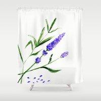 la Shower Curtains featuring la by L Step