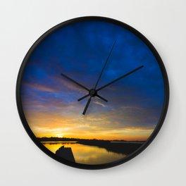Sunset Blues Wall Clock