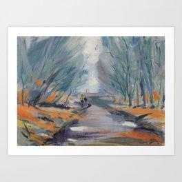 Roynton Lane Rivington Art Print