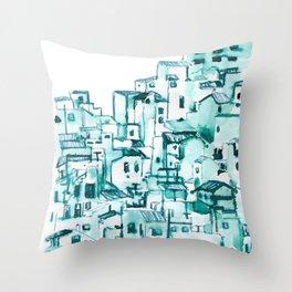 Pueblos blancos Throw Pillow