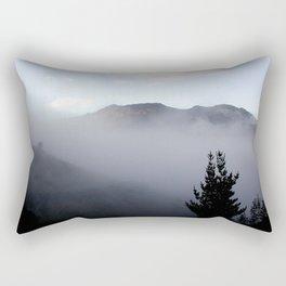 Fog covering Cradle Top Mountain  Rectangular Pillow