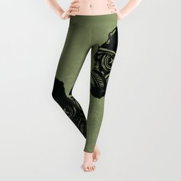 Gas mask skull Leggings