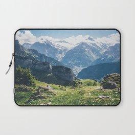 Swiss Alps Summer Landscape Laptop Sleeve