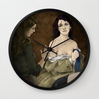 destiel Wall Clocks featuring Destiel. Cassy and Deana by Armellin
