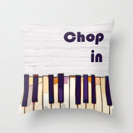 Funny Chopin and piano for classical music lover Throw Pillow
