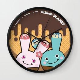 Plump Planet Donut Wall Clock