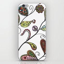 Angled Botanical Doodle Illustration iPhone Skin