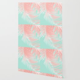 Palm Leaves Summer Vibes #9 #tropical #decor #art #society6 Wallpaper