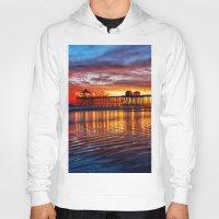 calendars Hoodies featuring Huntington Beach Sunset   12/2/13 by John Minar Fine Art Photography
