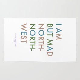 Shakespeare - Hamlet - I Am But Mad North-North-West Rug