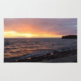 sunset on the sea Rug