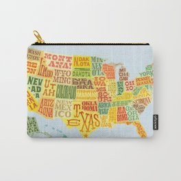 United States of America Map Carry-All Pouch
