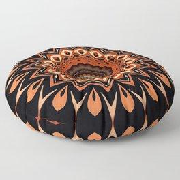 Boho Chic Rustic Orange Mandala Floor Pillow