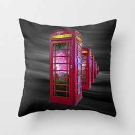 Space Beaming Boxes Throw Pillow