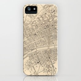 Vintage Map of Glasgow Scotland (1851) iPhone Case