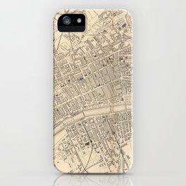 Vintage Map of Glasgow Scotland (1851) iPhone Case