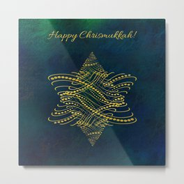 Happy Chrismukkah! Metal Print