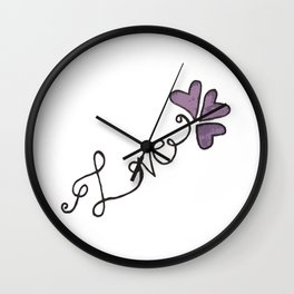 LoveNote Wall Clock